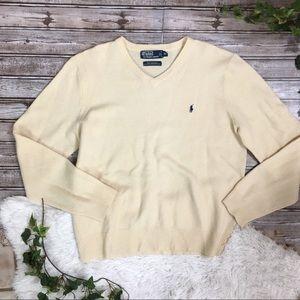 POLO RALPH LAUREN Lambswool Creme Sweater XL